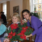 Christmas Makers at Friends of the Elderly Orford House residential care home for eldelry people