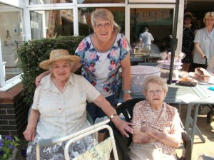 Moor House Summer Fete July 2013 Ivy & Minnie with friend Linda