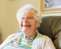 Paulette, resident of the Friends of the Elderly residential care home The Old Vicarage, Moulsford, Oxfordshire