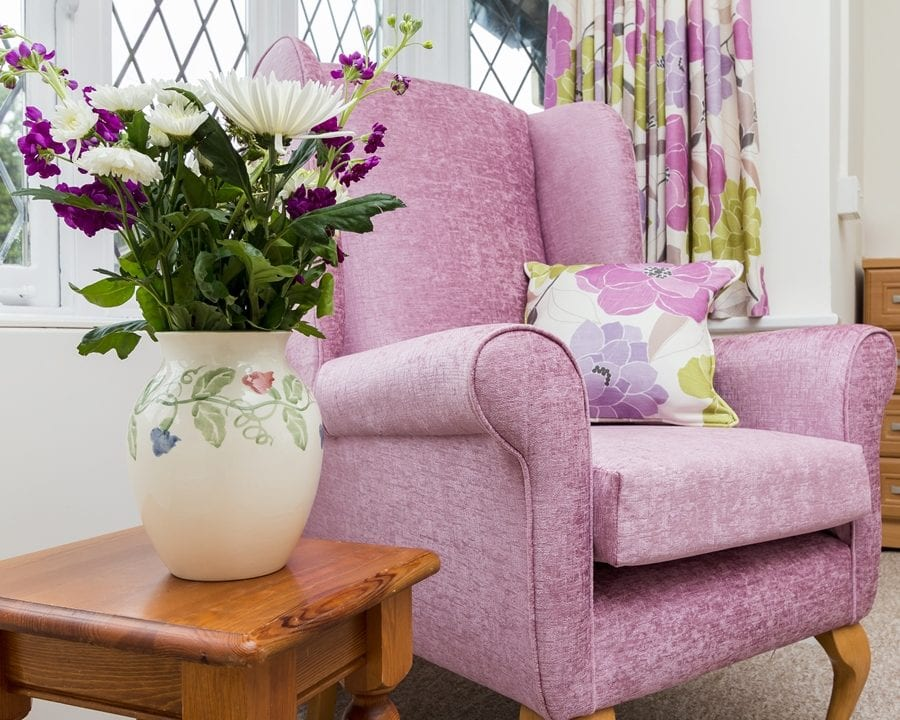 Little Bramingham Farm purple armchair - cropped
