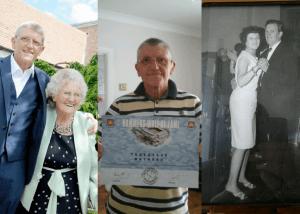 Steve Maynard with his mum