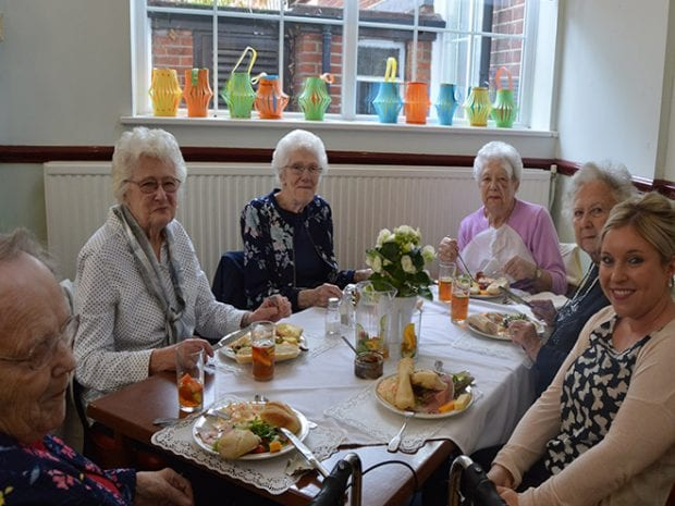 Members of the community at the Ploughmans and Pimms lunch