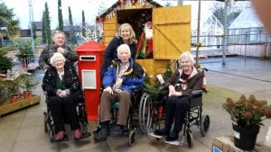 Moor House residents on a Christmas shopping outing