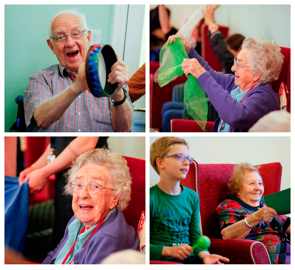 Music class at Bernard Sunley care home