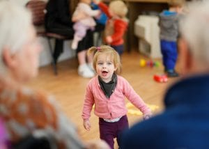 Residents at Bernard Sunley care home in Woking enjoy the children's visits to the home.