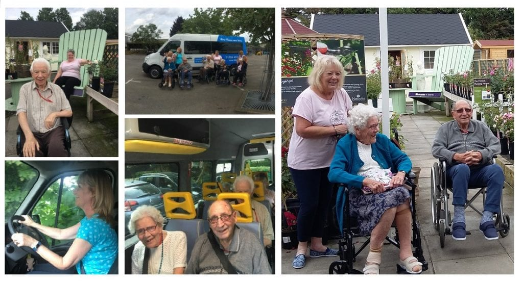 Moor House residents recently enjoyed their first outing in their new minibus.