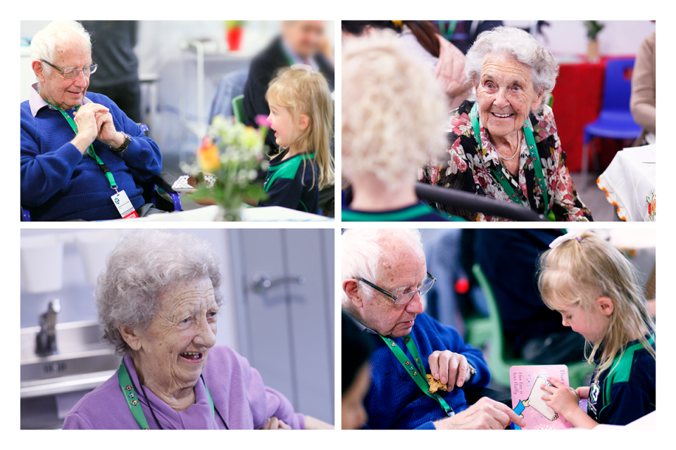 ISL Surrey Primary School invite Woking care home residents and day care clients to afternoon tea