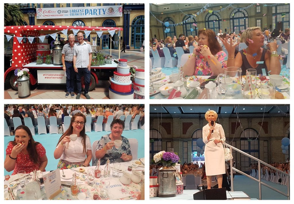 Cath Kidston and Mary Berry break largest cream tea world record