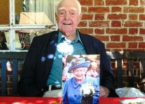 Charlie celebrating his 100th birthday at our care home in Holybourne