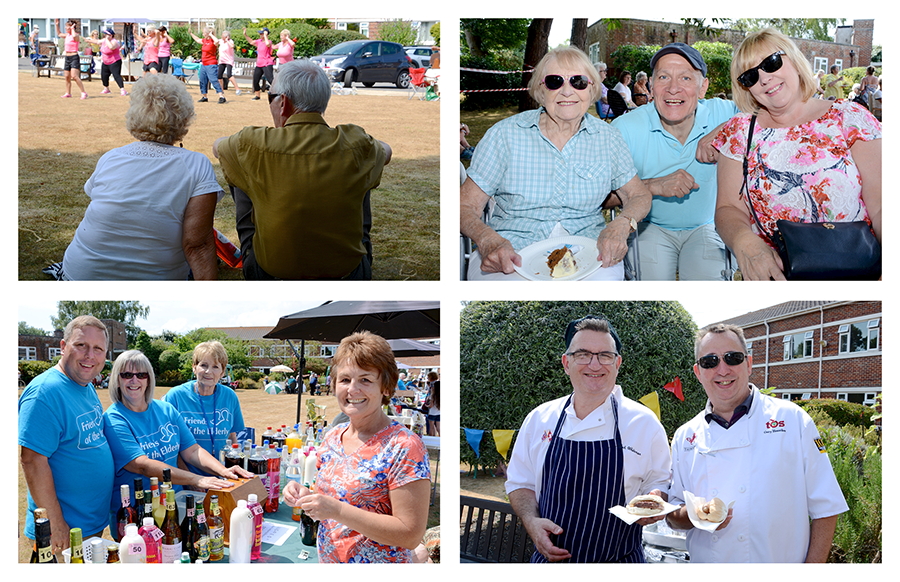 Guests and residents enjoying the summer fete at our Bournemouth care home
