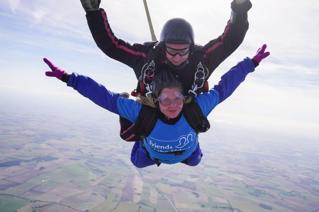 Malvern care home manager skydiving