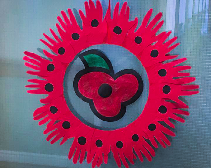 Remembrance Day craft made by residents