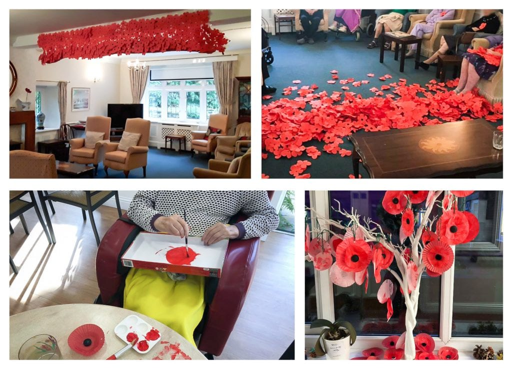 Remembrance Day craft made by residents.