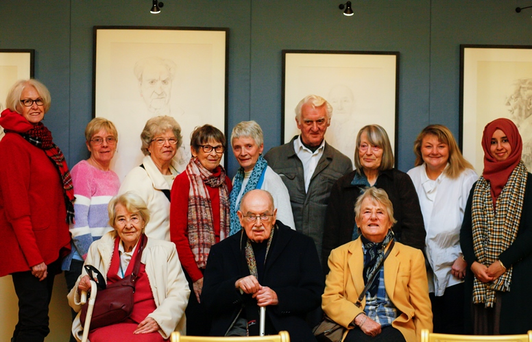 Group of older people at The Queen's Gallery