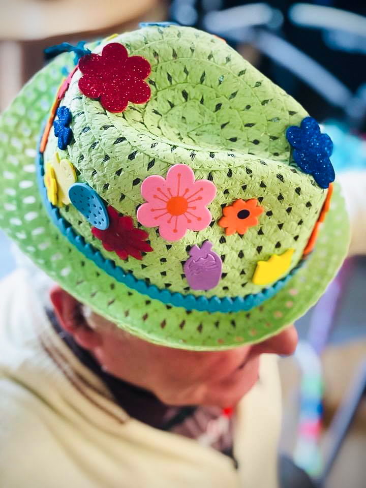 Easter bonnet made by a care home resident