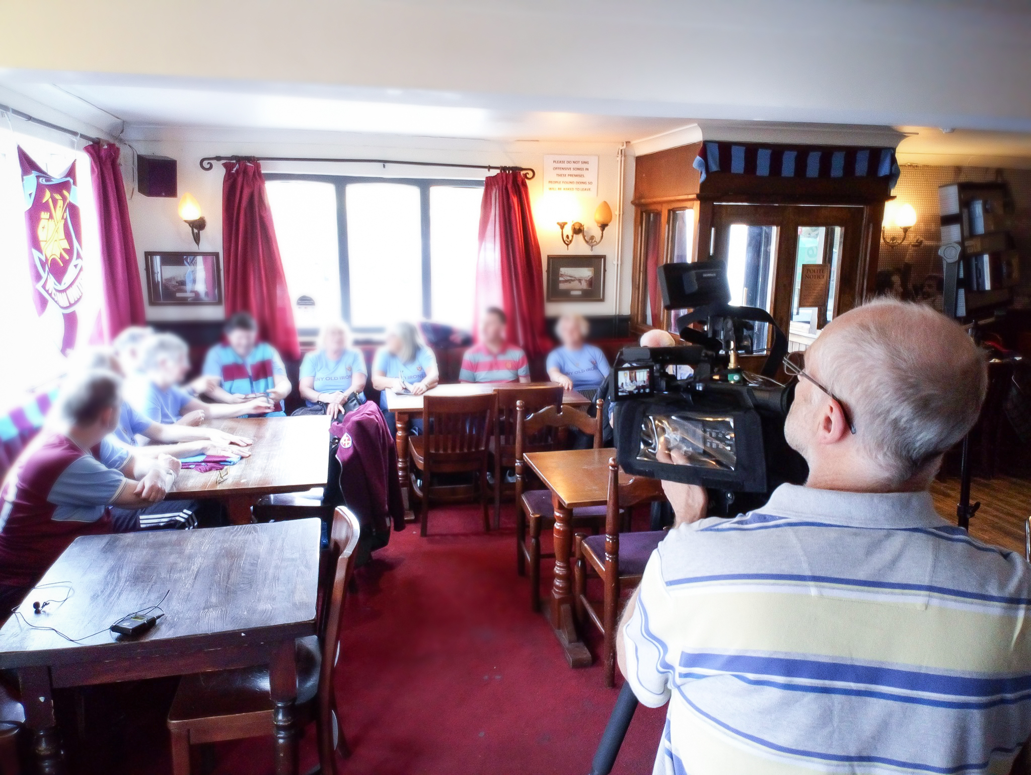 Any Old Irons group being filmed by ITV News