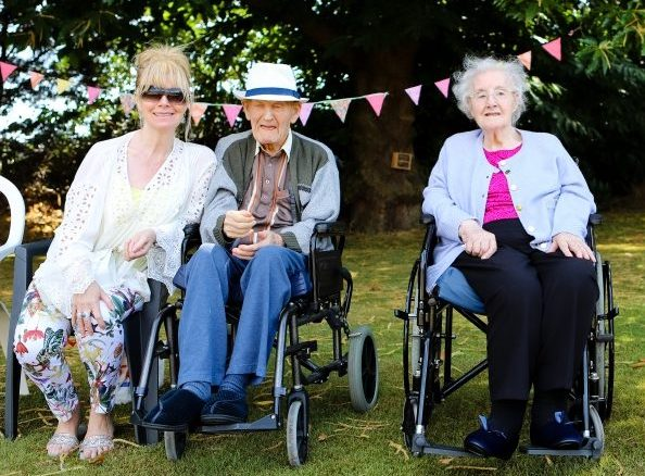 Residents and guests at the summer fete