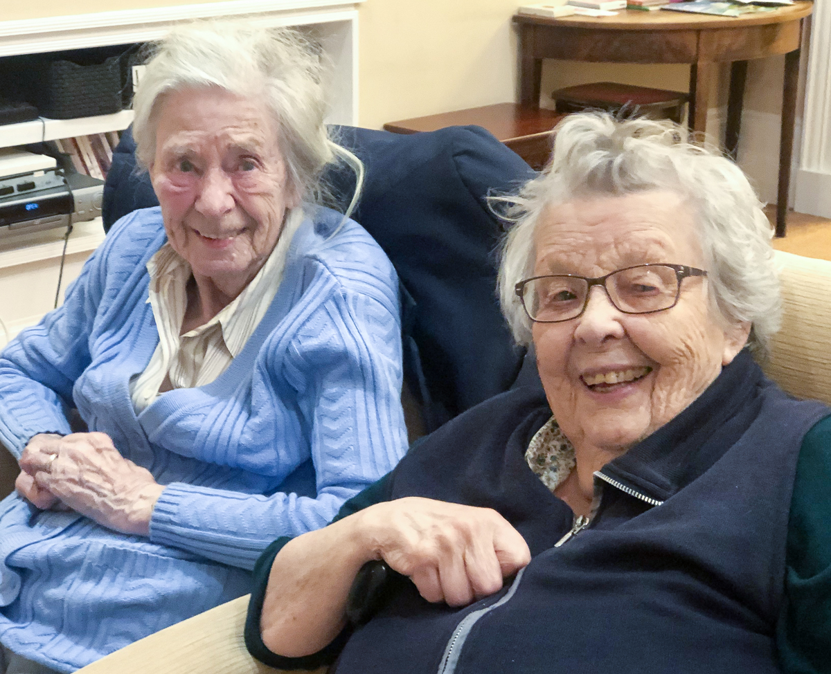 Two residens from The Lawn care home in Hampshire