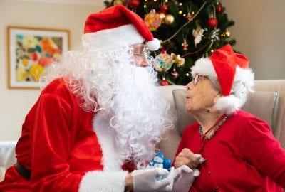 Santa and resident