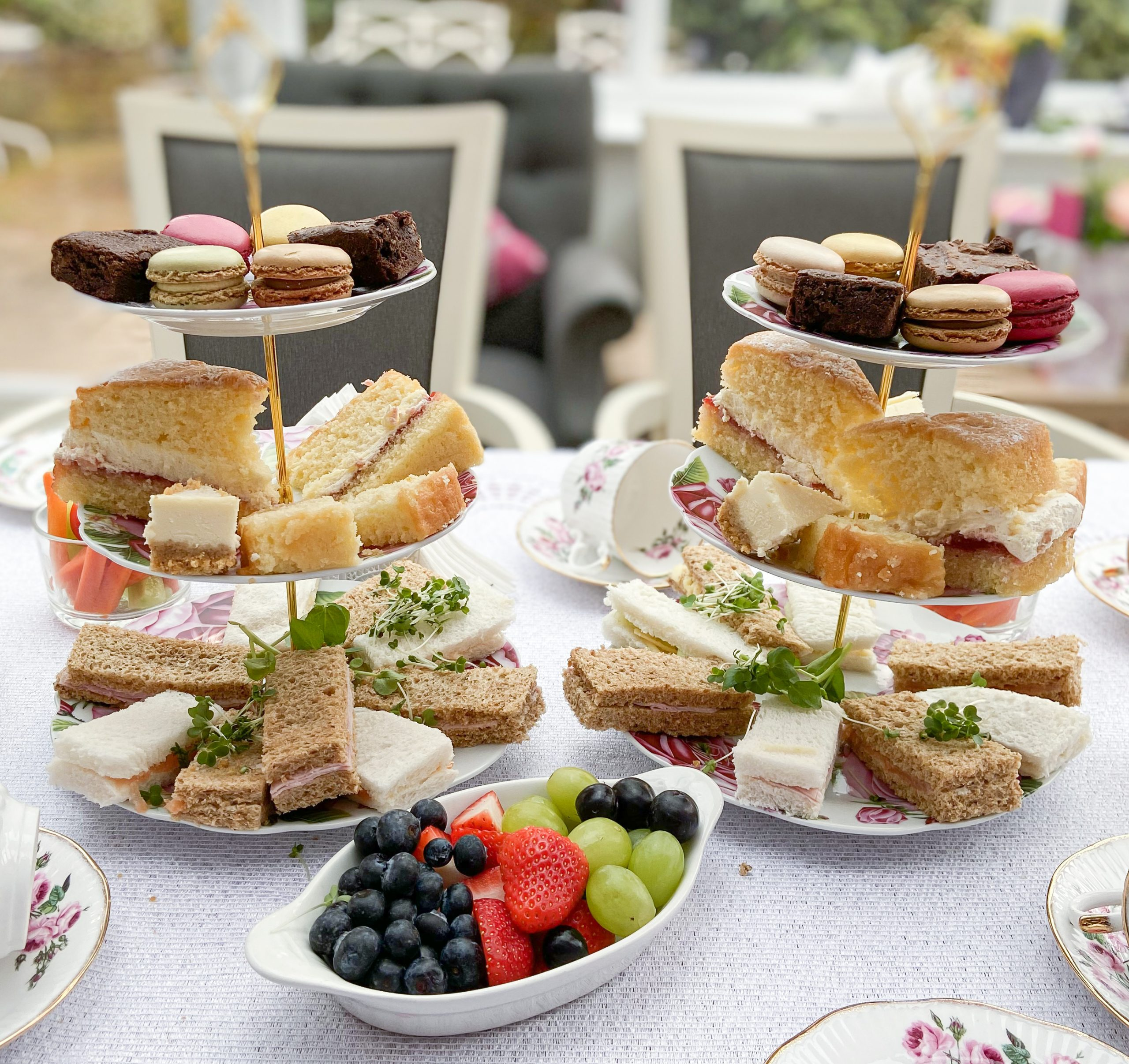 A selection of sandwiches and cakes available at the afternoon tea celebration