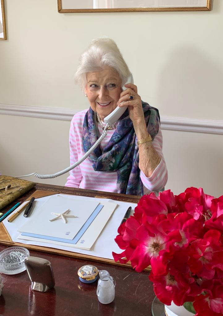 Princess Alexandra on the phone to our Chief Executive and Chair of the Board