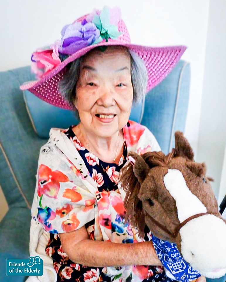 A Coulsdon resident dressed up for Royal Ascot day.