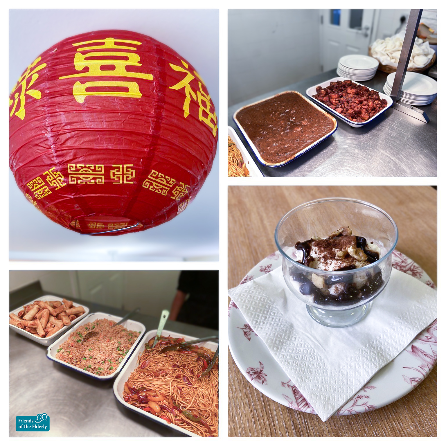 A picture of the Chinese themed lunch served at our Luton care home.