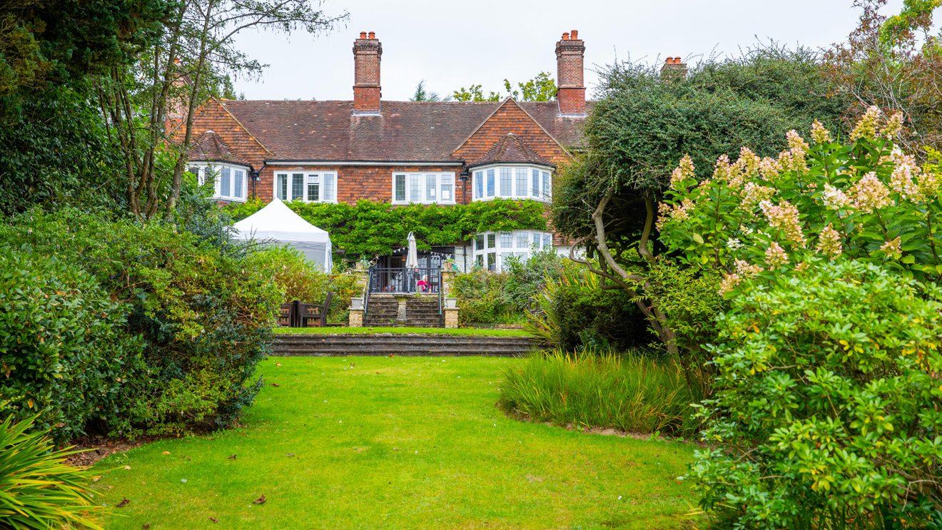 Redcot care home exterior and gardens