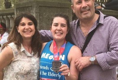 Marathon runner fundraising for Friends of the Elderly