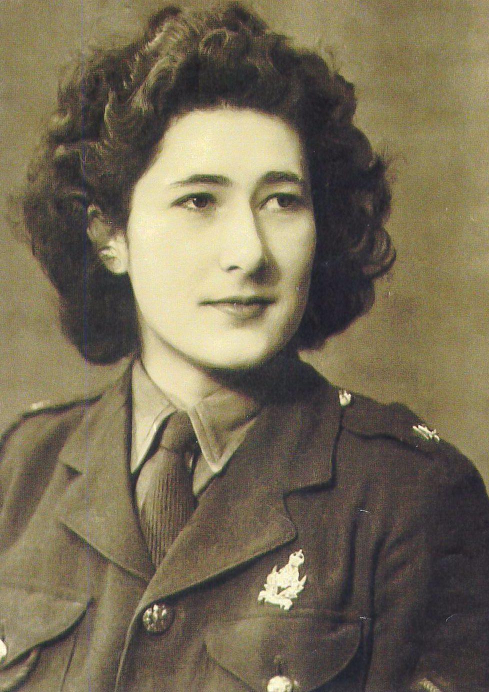 Juliet in uniform during her wartime service