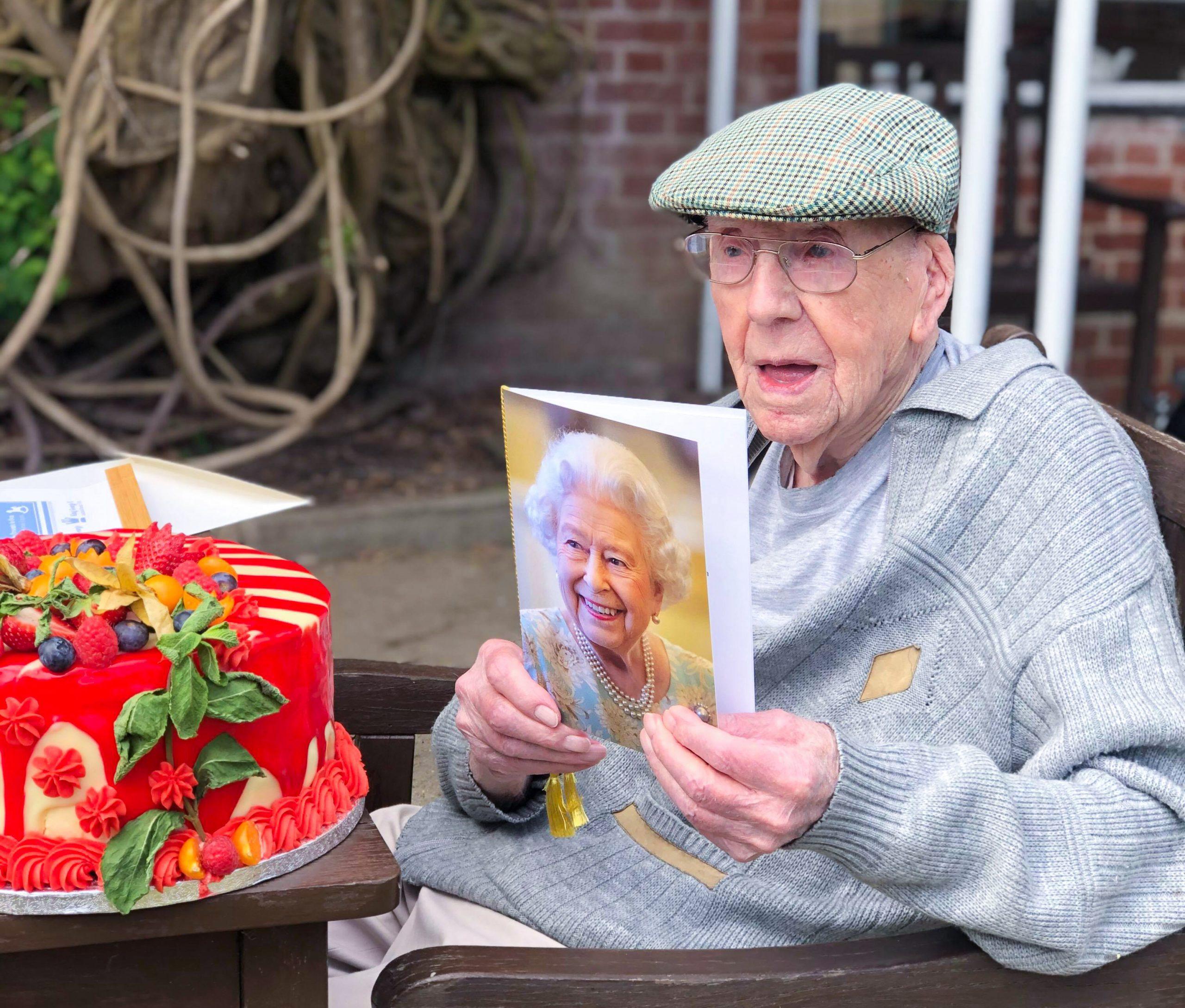 Alton Resident Bill during his 100th Birthday celebrations
