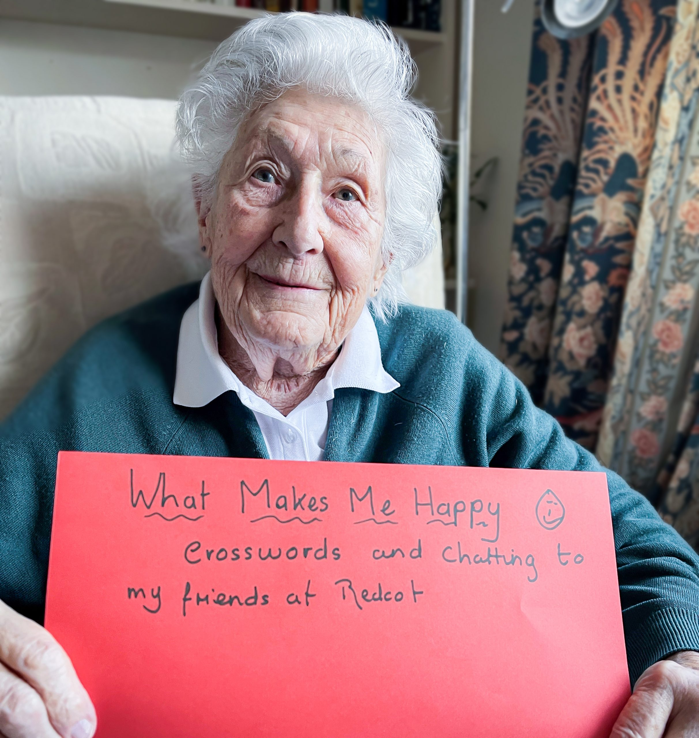 Redcot care home resident Juliet