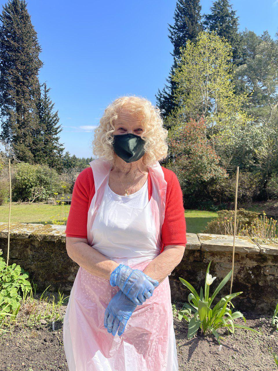 Ann Essam stood outside Redcot care home