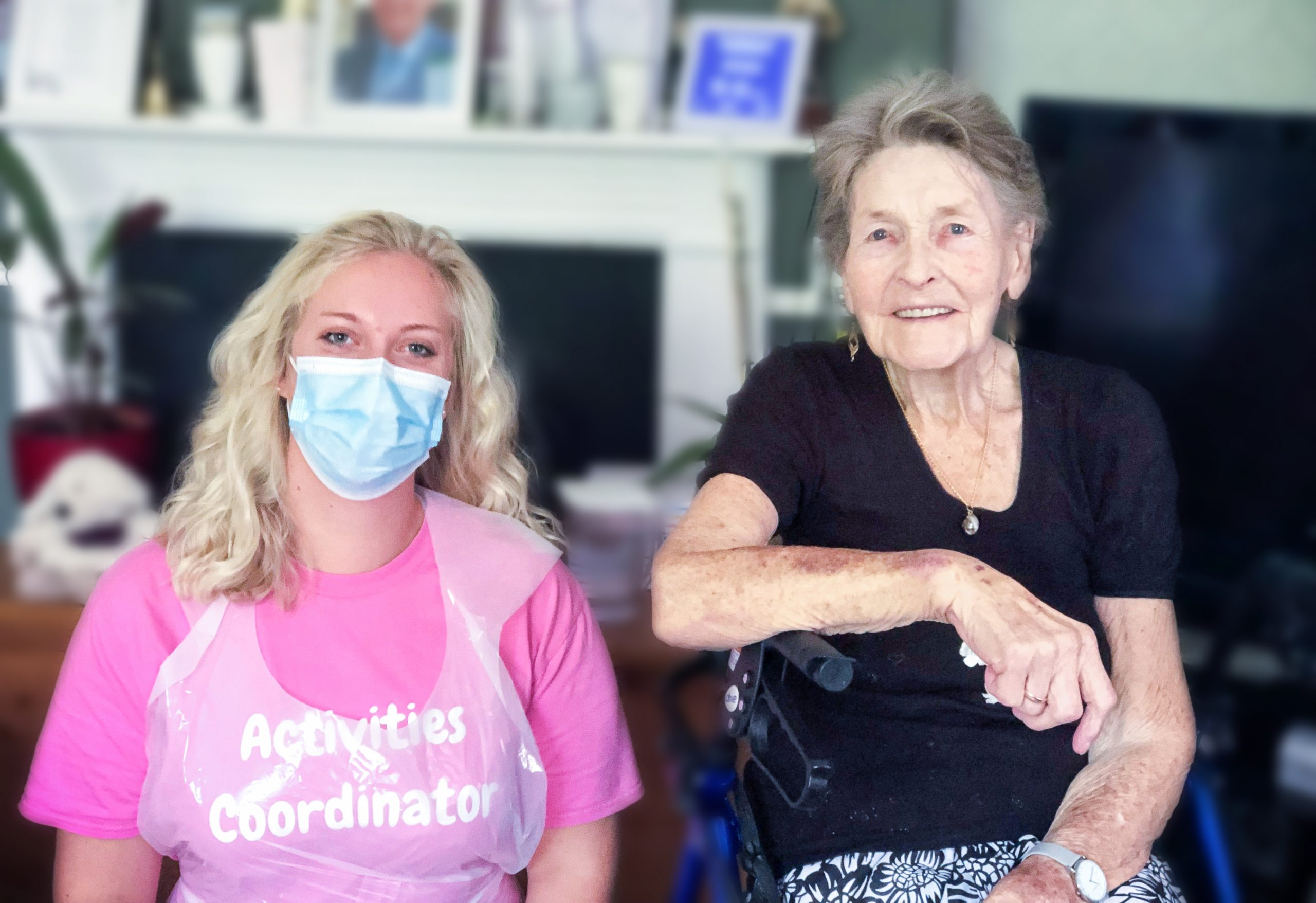 The Lawn care home's Dementia Champion and Activity Coordinator Camilla Coulston with resident Sheila