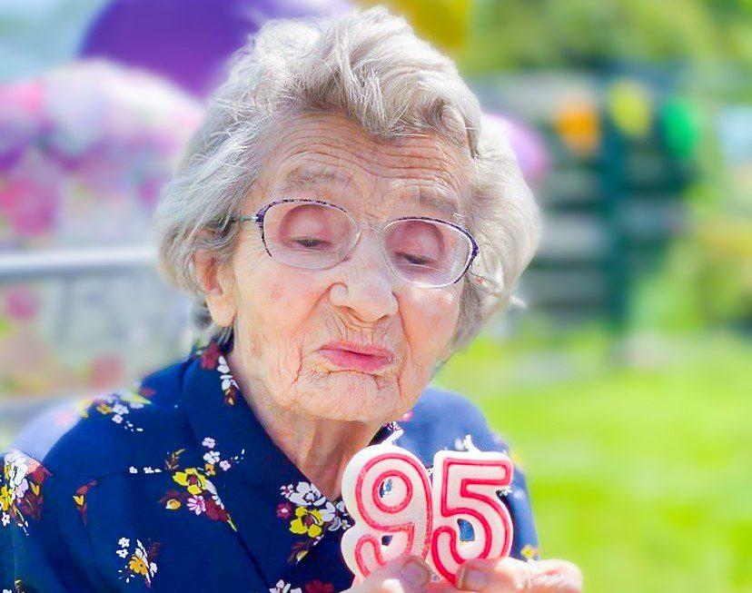 Eileen on her 95th Birthday