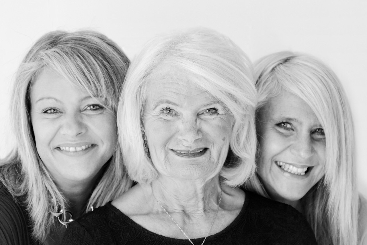 Cheryl, Ann and Gaynor family portrait