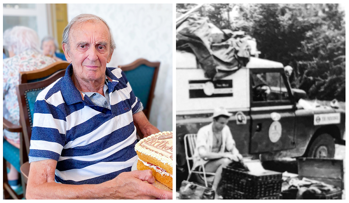 September highlights - Keith on his birthday and a black and white image of the Land Rover adventure